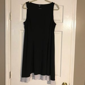 Chaps dress with flare fit.
